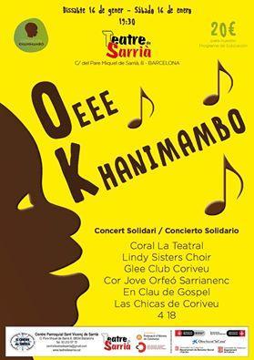 Cartel promocional concierto solidario Khanimambo