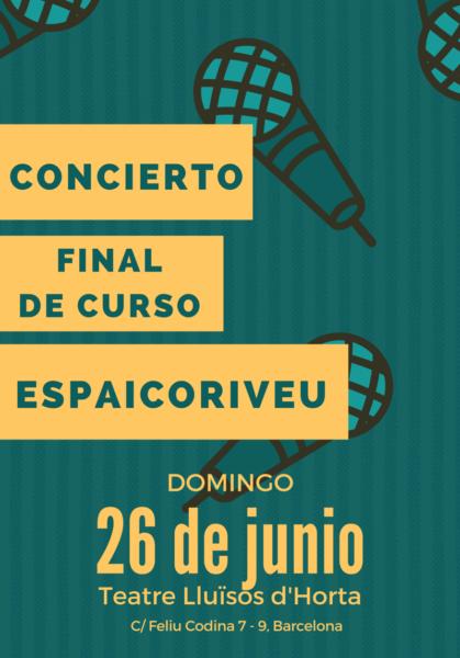 Concierto final de curso Espai Coriveu - Escuela de canto