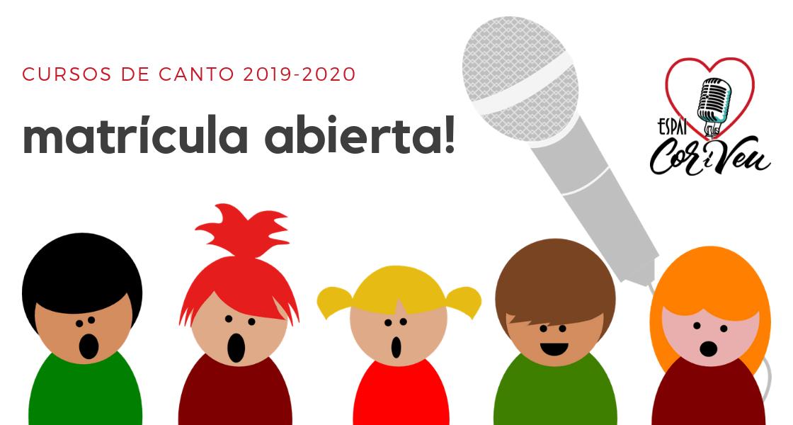 Cursos de canto 2019-2020